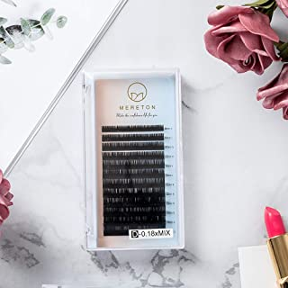 Eyelash Extensions 0.18mm D Curl 8-15mm Mixed Tray, Easy to Use, Blend Well Individual Eyelashes Extension for Salon Professional Use Eye Lashes Extension
