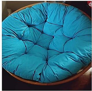 Cojín de Silla de ratán con Columpio copetudo cojín Redondo Almohadilla Gruesa cómoda y de Gran tamaño cojín de Silla sobrecargado Azul Cielo 80x80 cm (31x31 Pulgadas)