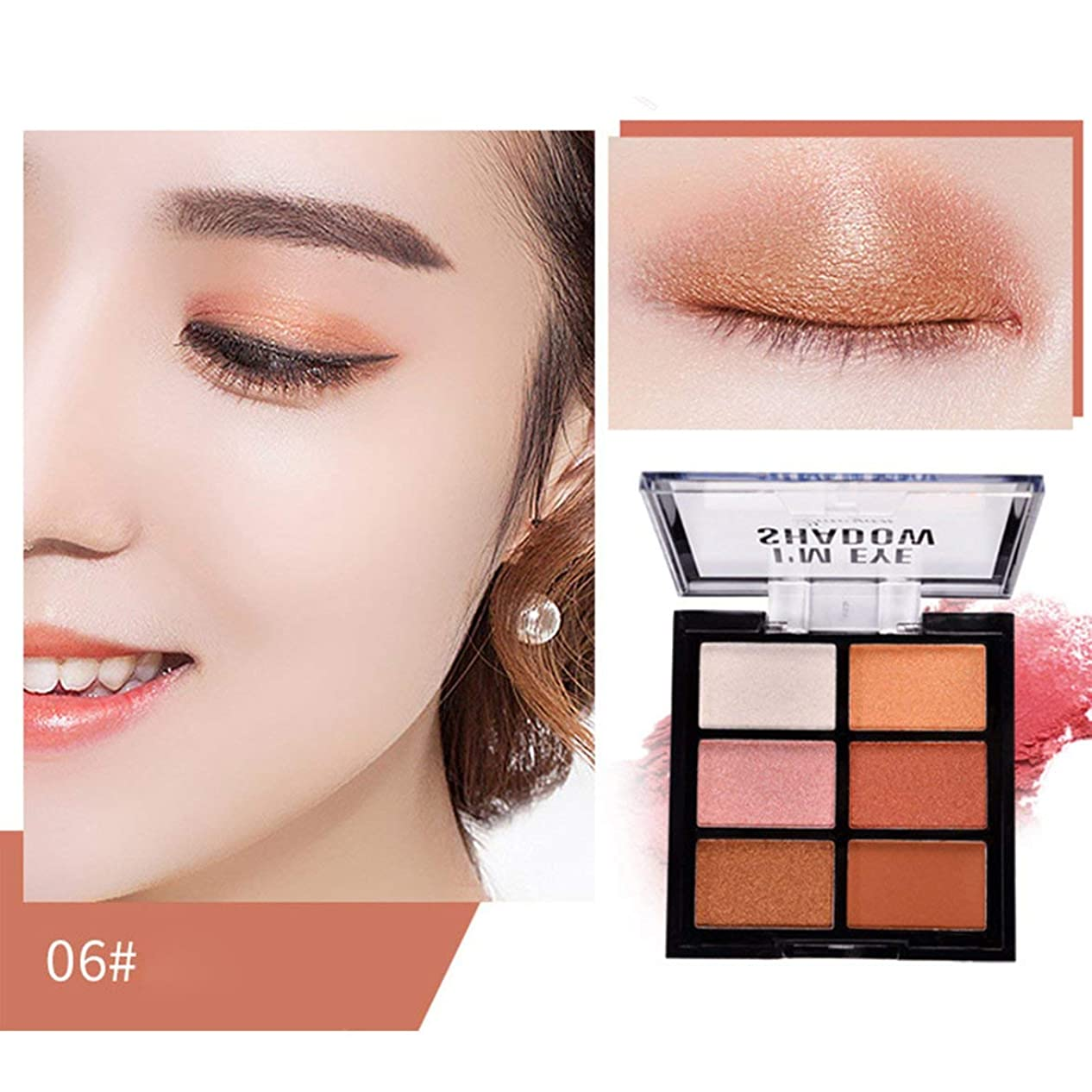 食事を調理するガウンナインへIntercorey Peach flower makeup Charming colors Eyeshadow Palette Make up Palette Matte Shimmer Pigmented Eye Shadow Powder Beauty Makeup