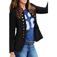 luvamia Women's Open Front Long... luvamia Women's Open Front Long Sleeves Work Blazer Casual Buttons Jacket Suit
