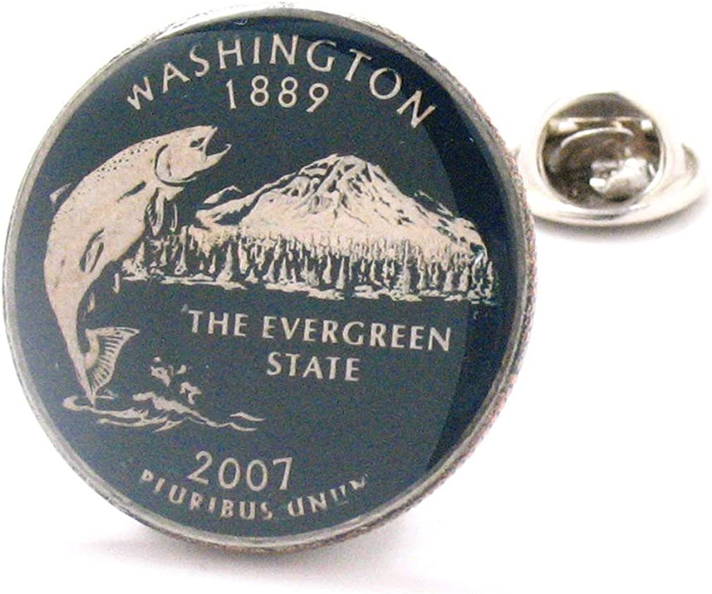 Washington Tie Tack Lapel Pin Suit Jewelry All items in the store Long Beach Mall USA Flag Coin U State