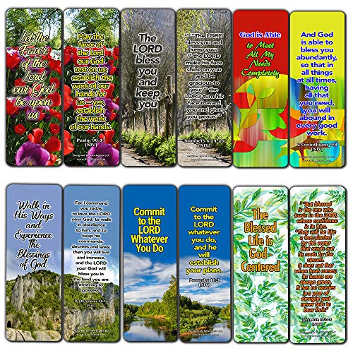 Powerful Bible Verses Bookmarks - Blessings (30 Pack) - Handy Blessing Bible Texts That are Easy to Bring Along with You