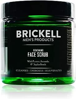 Brickell Men's Renewing Face Scrub - Natürliches und organisches Gesichtspeeling für Männer - Porentiefe Gesichtsreinigung mit Jojoba Perlen, Kaffee-Extrakt und Bimsstein - 59 ml - Parfümiert