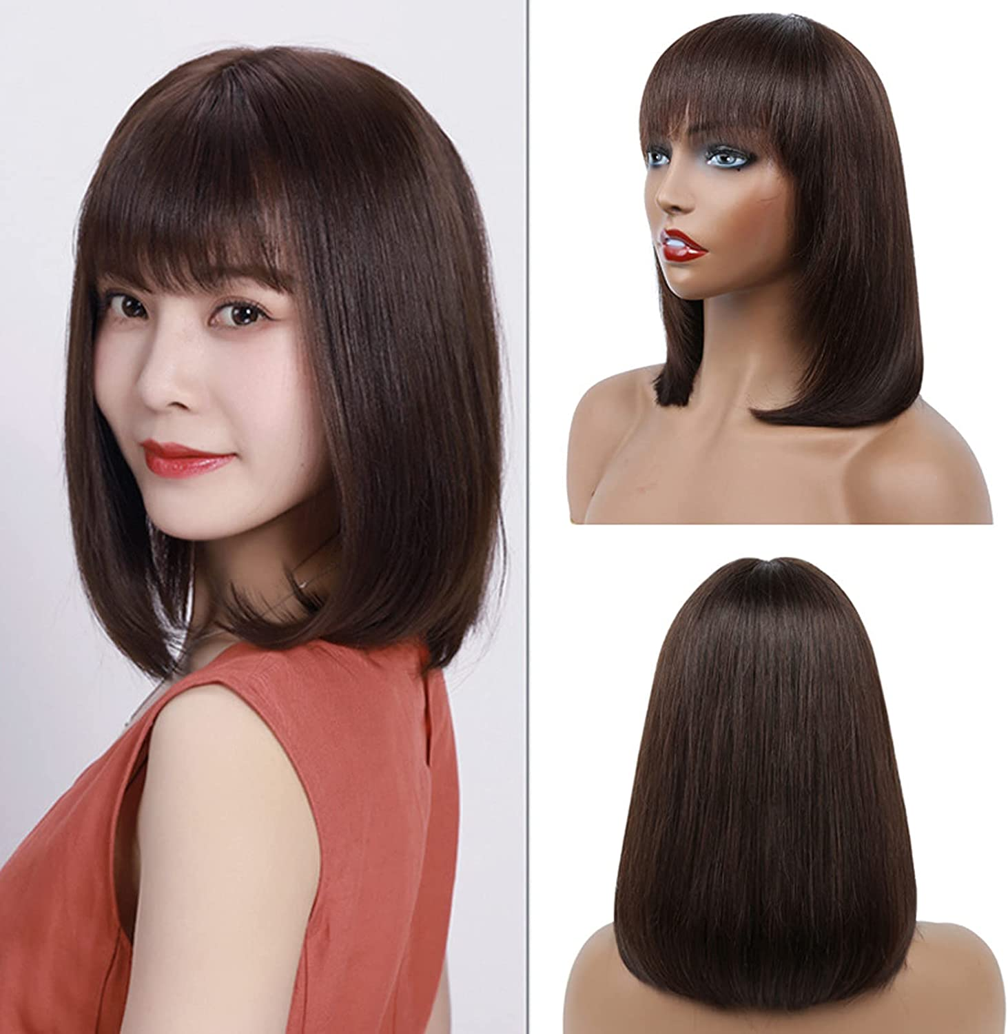 MMMRRTIME Max 52% OFF Celebrity Fashion Bob Wigs for H Girl Remy Human Women Albuquerque Mall