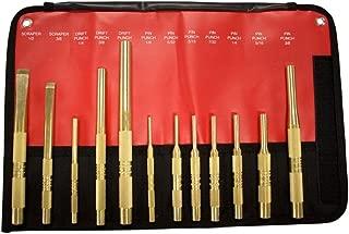 Mayhew Tools 67012 12 Piece Brass Punch & Scraper Set