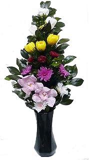 【仏花倶楽部®】のプリザーブドフラワー仏花:B06ZY443HR 【size LL 】(お花はもちろん、葉っぱにいたるまで、造花は一切使用しておりません))