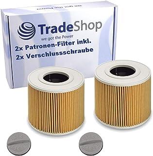 2 filtri a cartuccia con vite di chiusura per Kärcher 6.414-789 6.414-789.0 NT 27/1 ME Professional NT 48/1 TE Professiona...