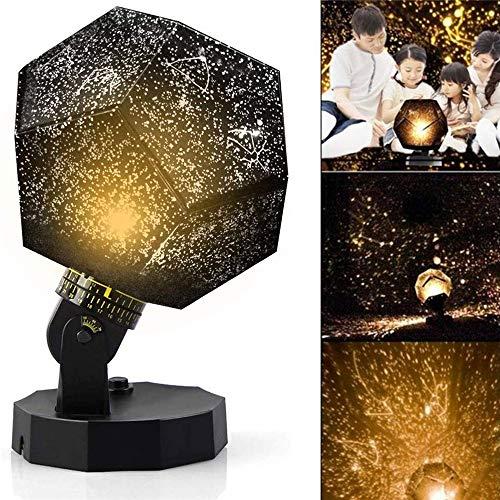 Proyector De La Lámpara De La Estrella Negra Del Museo De Ciencias, 60,000 Estrellas Planetario Casero Original Caronan, Dodecaedro Recargable Usb Diy Tres Colores Regalos De Navidad