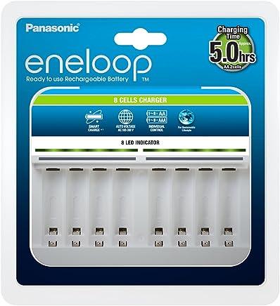 Panasonic松下 eneloop,智能高端充电器,适用于 1-8 节镍氢电池 AA/AAA