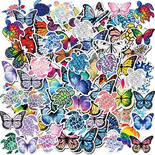 90 Stuck Schmetterlinge Meeresschildkroten gemischte Aufkleber fur Wasserflaschen asthetische trendige VSCO Aufkleber fur Laptop iPhone iPad Computer Notebook
