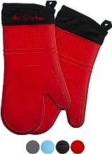 Avana Guantes de Silicona para Horno para barbacoas Hornear Color Rojo Resistentes al Calor hasta 250 /°C Resistentes al Calor con Forro Interior de algod/ón Suave cocinar Antideslizantes