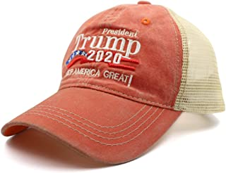 MAGA Dad Baseball Cap USA Hat Mesh Washed Dyed Cotton Ball Make America Great Again Adjustable Cap