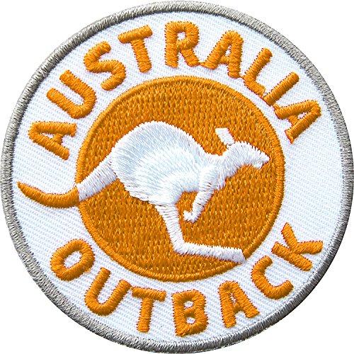 Club of Heroes 2 x Abzeichen gestickt 60 mm/Australien Outback/Applikation Aufnäher Aufbügler Flicken Badge Bügelbild/Iron on Patch für Kleidung Tasche Rucksack