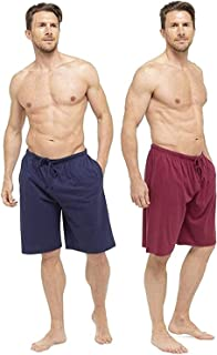 Mens Lounge Wear Pants with Cuffed Bottoms or Lounge Shorts – Soft, Cosy & Comfy Nightwear Trousers 100% Cotton - Mens Pyj...