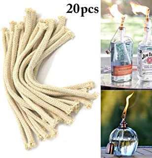 JUSTDOLIFE 20PCS Oil Lamp Wick for Alcohol Burner Cotton Oil Lantern Wick Replacement Wick