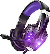 BENGOO G9000 Stereo Gaming Headset for PS4, PC, Xbox One Controller, Noise Cancelling Over Ear Headphones with Mic, LED Li...