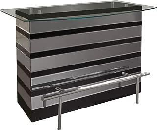 Sharelle Furnishings Mera Black Lacquer Bar Counter Black Lacquer