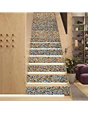 Trapstickers schil en stok backsplash zelfklevend PVC materiaal DIY kleurrijke kleine vierkanten zelfklevende sticker verwijderbare muurschildering voor thuis trappen decor 1 set 13 stuks