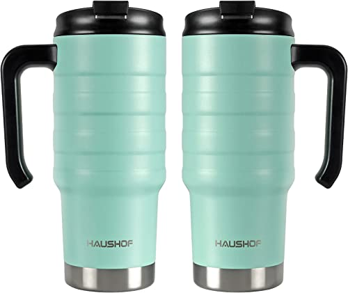 new arrival HAUSHOF 24 oz Travel Mug Combo online sale (2 Mugs), for lowest Both Southpaw and Right-hander outlet online sale