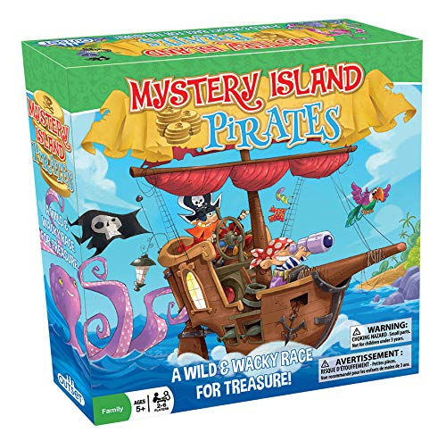 Outset Media Mystery Island Pirates Game - A Wild & Wacky Race for Treasure - Perfect Game for 2 to 6 Players Ages 5 and up