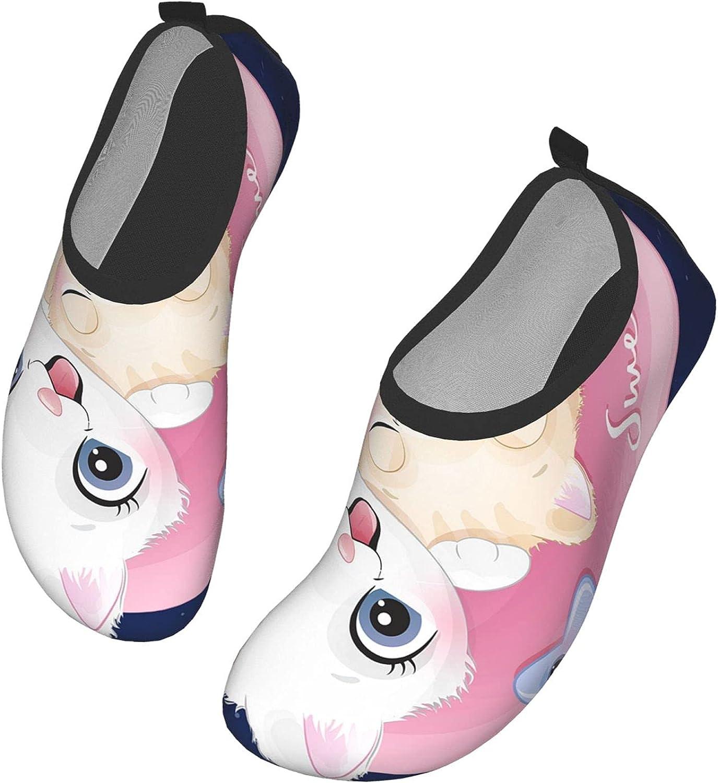 IBILIU Cute Cats Water Shoes,Little Kawaii Kittens Kitty Sleeping Pink Moon Sweet Dream Quick-Dry Barefoot Aqua Socks