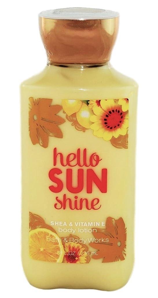面かすかな中断Bath & Body Works hello SUN shine body lotion 236ml 並行輸入品