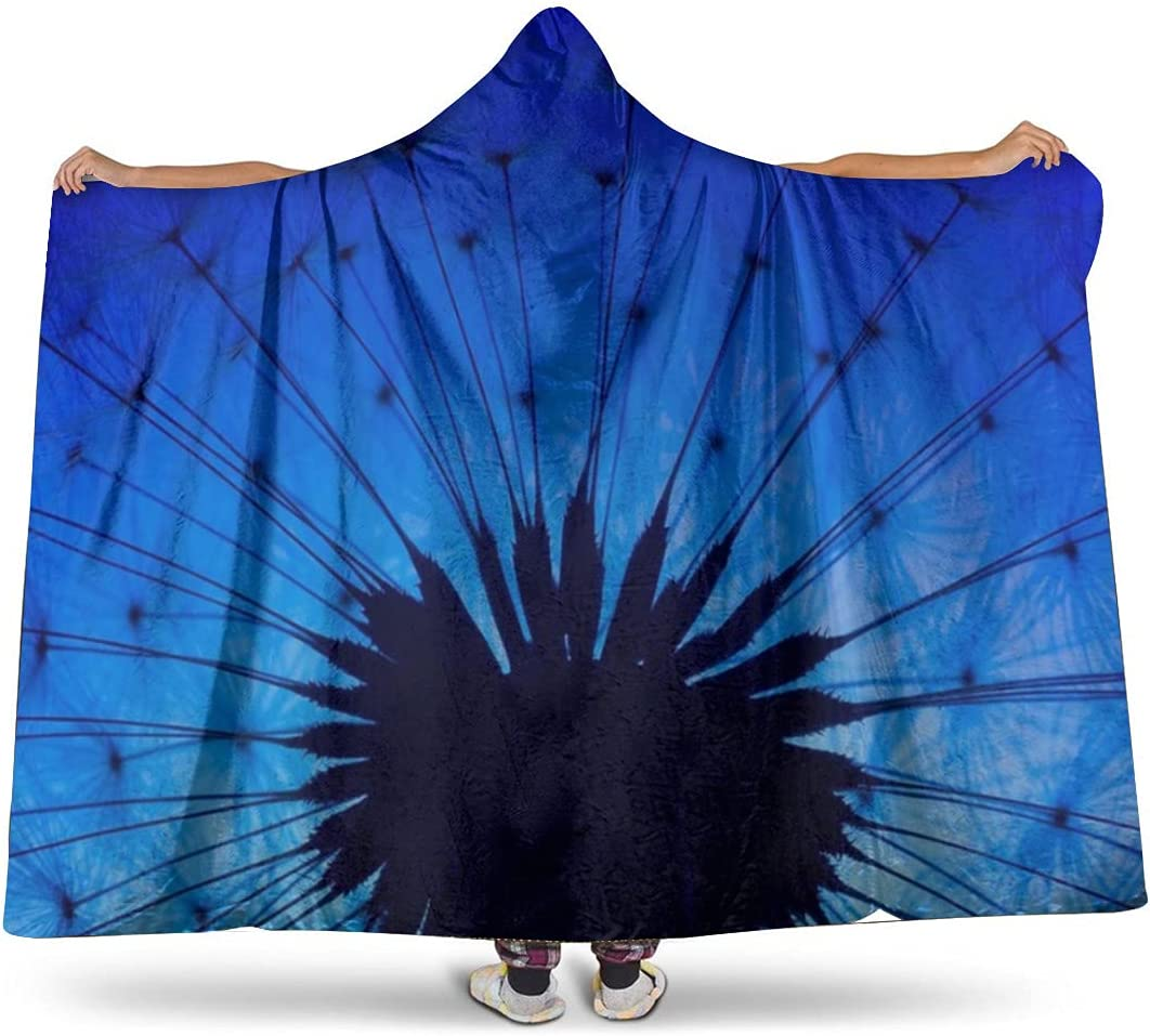 Dandelion Latest item Macro Flower Now free shipping Super Soft Flannel Blanket Microfi Hooded