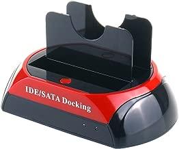 Hard Drive Docking Station, WANLONGXIN WLX-875D-US USB 2.0 to SATA IDE Dual Slots HDD Reader for 2.5 3.5 Inch IDE SATA I/II/III HDD SSD