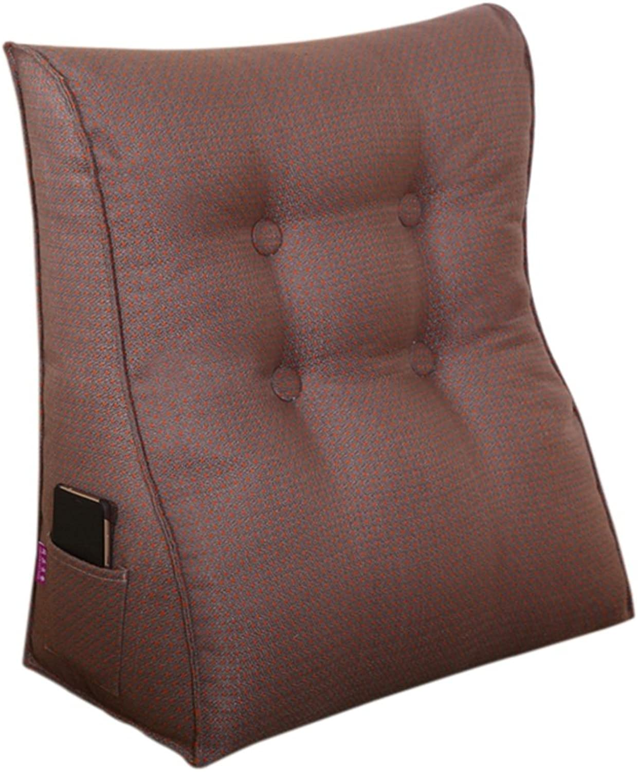 RFJJAL Lumbar Cushion Back Support Pillow Reading Pillow for Bed Backrest Sofa for Back Pain (color   C, Size   45  50  20cm)
