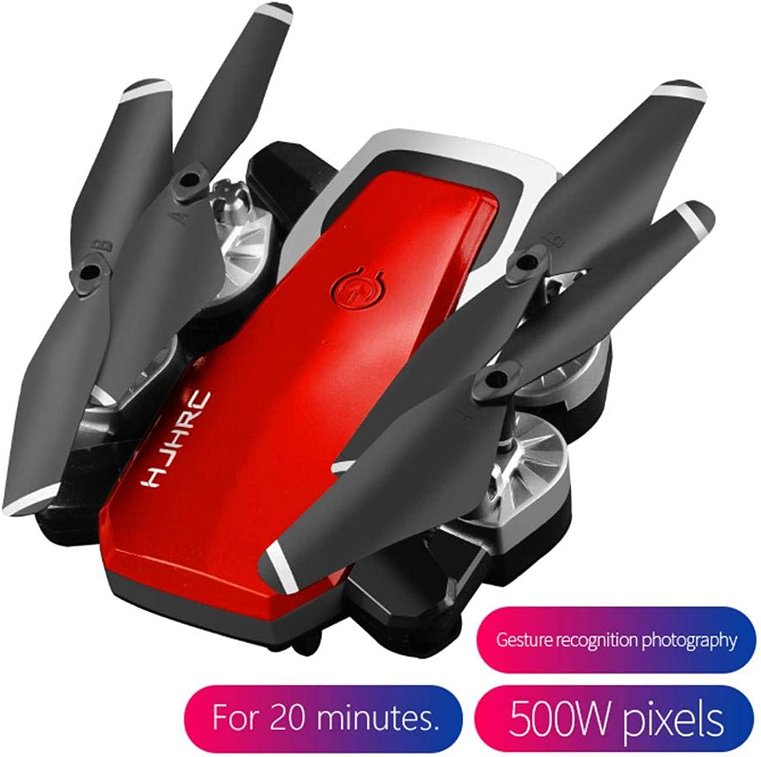 RC Drone Quadcopters Folding 5MP Camera WiFi RealTime Transmission 360° redatio Gesture Altitude Hold Headless Mode One Key Return, 20 Minutes Long Battery Life