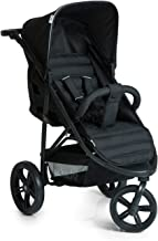 Hauck Rapid 3 Dreirad Buggy bis 25 kg mit Liegefunktion ab Geburt, klein zusammenklappbar, Einhand-Faltmechanismus, höhenverstellbarer Schiebegriff, caviar black schwarz