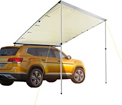 Pickup Truck Army Green SUV Automobile Side Awning Universal Car Awing for Trailer MPV Hatchback and Sedan Lightweight Waterproof Durable Tear Resistant Van Camper Awning