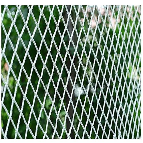 LAOHETLH Safe Net Red de SOGA de jardín anticaída de Seguridad Escaleras for Mascotas for niños Escalera con balcón Red de protección Interior Blanco (Size:2 * 5m(7 * 16ft))