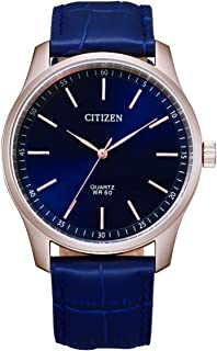 CITIZEN Mens Quartz Watch, Analog Display and Leather Strap - BH5003-00L
