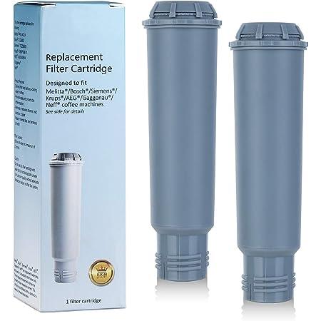 Somune Lot de 2 cartouches de filtre à eau pour machine à café Melitta/Krups Claris F088 F088 01/Siemens TCZ60003 /AEG/Neff/Bosch TCZ6003