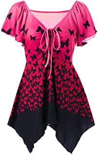 MISYAA Sunflower-Elephant Print Tank Tops for Women Sleeveless Summer Casual Tees Baggy Crew Neck Pullover Blouses S-3XL