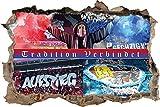 Sechzig Kaiserslautern Freundschaft, 3D Wandsticker Format: