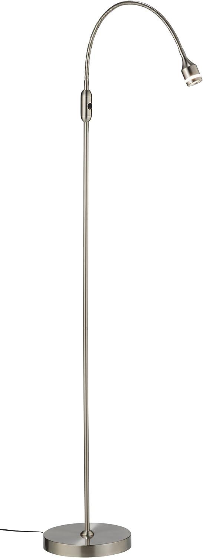 Adesso 3219-22 Prospect 45 -56  LED Floor Lamp, Steel, Smart Outlet Compatible