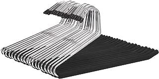 JS HANGER Open Ended Anti-rust Metal Slack Pant Hangers with Non-slip Foam Coating, 20-Pack