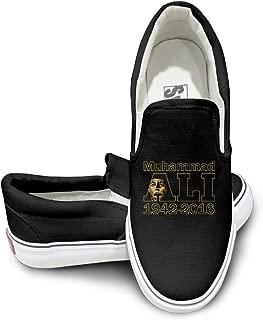 Deamoon Boxer Muhammal Fashion Unisex Flat Canvas Shoes Sneaker White