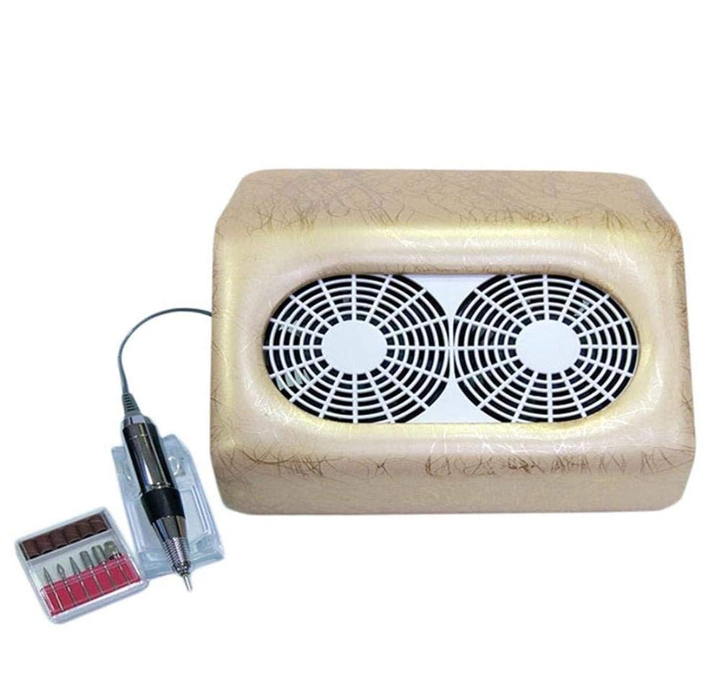 追い払う圧縮する告発電気ネイルドリルネイル掃除機ネイルドライヤー付き2ファンサロンアートマニキュアツールツール機器具キット