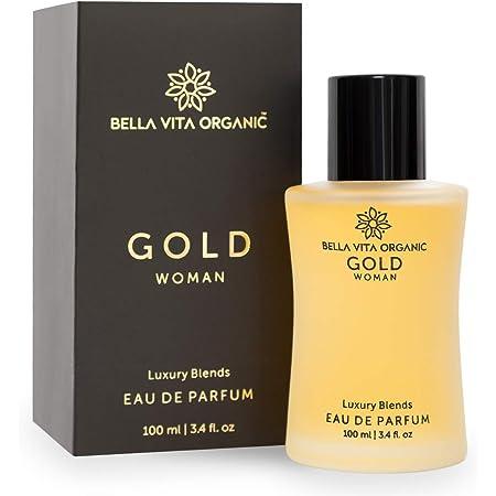 Bella Vita Organic Gold Perfume for Women EDP Luxury Long Lasting Fresh & Fruity Fragrance, 100 ml