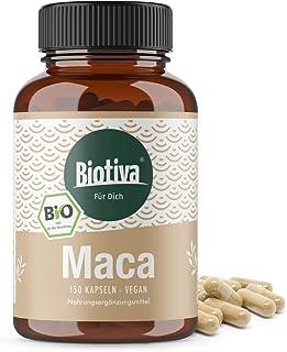 Maca orgánica - 150 cápsulas con 500 mg cada una - Lepidium meyenii - polvo