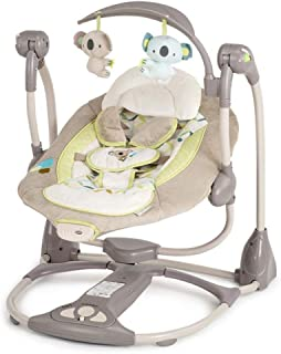 TONGSH Portable Swing Baby Rocking Chair Electric Intelligent Swing Music Rattles Soft Multifunction foldtable (Color : A)
