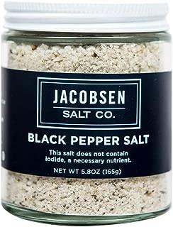 Jacobsen Salt Co Infused Sea Salt Black Pepper 5 pt. 3 oz