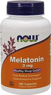 NOW Supplements, Melatonin 3 mg, 180 Veg Capsules