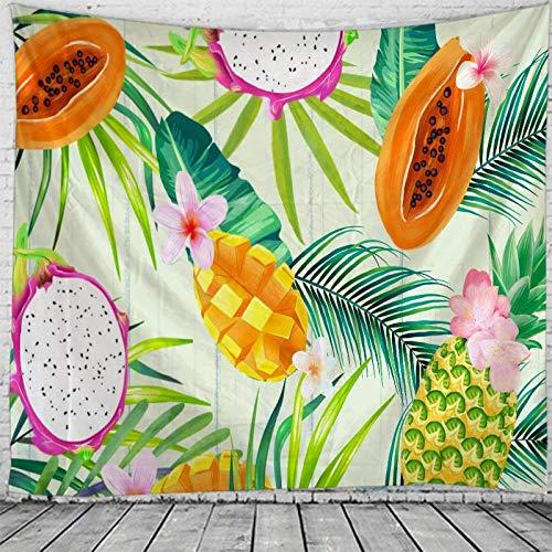 WAXB Tapiz De Hojas De Frutas Tropicales, Tapices De Pared para Colgar En La Pared para Decoración del Hogar, Arte De Pared De Dormitorio, Tamaño Grande