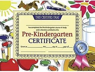 HAYES SCHOOL PUBLISHING H-VA499 - CERTIFICATES PRE-KINDERGARTEN 30/PK Multi 8.5-x-11-inch