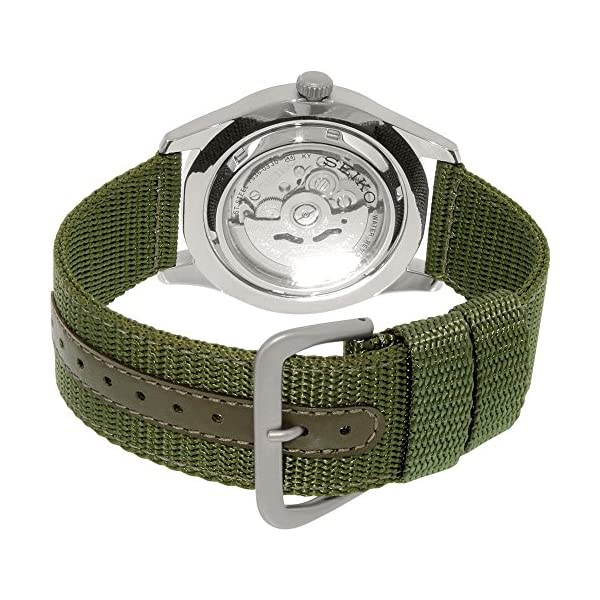Fashion Shopping Seiko 5 Men's SNZG09K1 Sport Analog Automatic Khaki Green Canvas Watch
