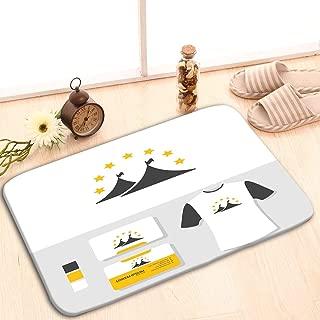 zexuandiy Doormat Entrance Mat Floor Mat Rug Indoor/Outdoor/Front Door/Bathroom Mats Rubber Non Slip 24 W X 16 W Inches Tent Logo Business Card Mockup